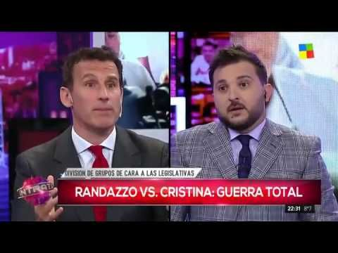 """Debate en """"Intratables"""": Brancatelli contra un dirigente de Randazzo"""