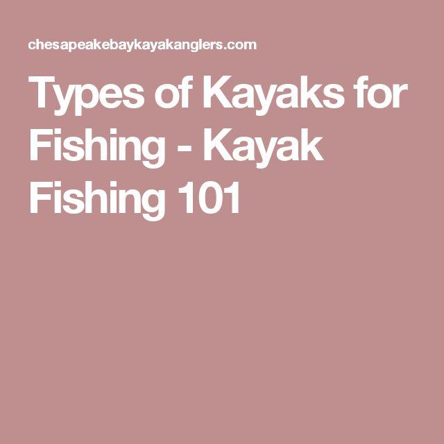Types of Kayaks for Fishing - Kayak Fishing 101