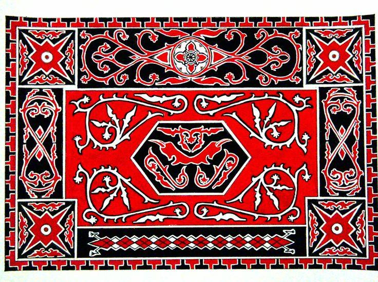 Typical painting of batak Karo