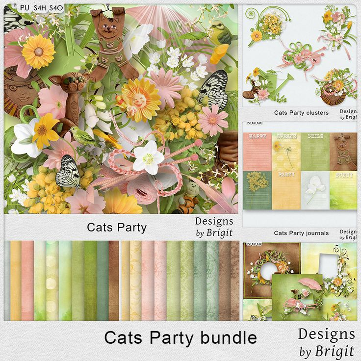 Digital Art :: Bundled Deals :: Cats Party bundle by Designs by Brigit