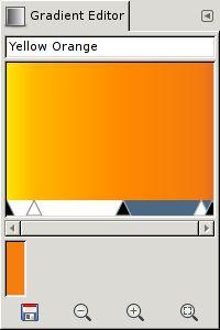 Gimp gradient editor