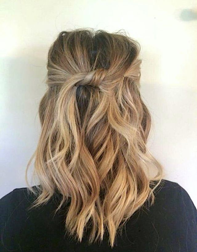 Twisted half up hairstyle - 2018 bridal hair trends