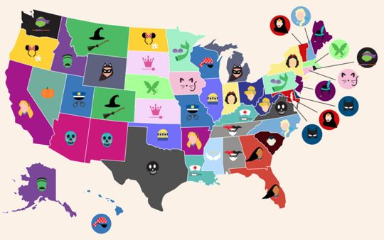 These Are The Most Popular Halloween Costumes By State — Design News