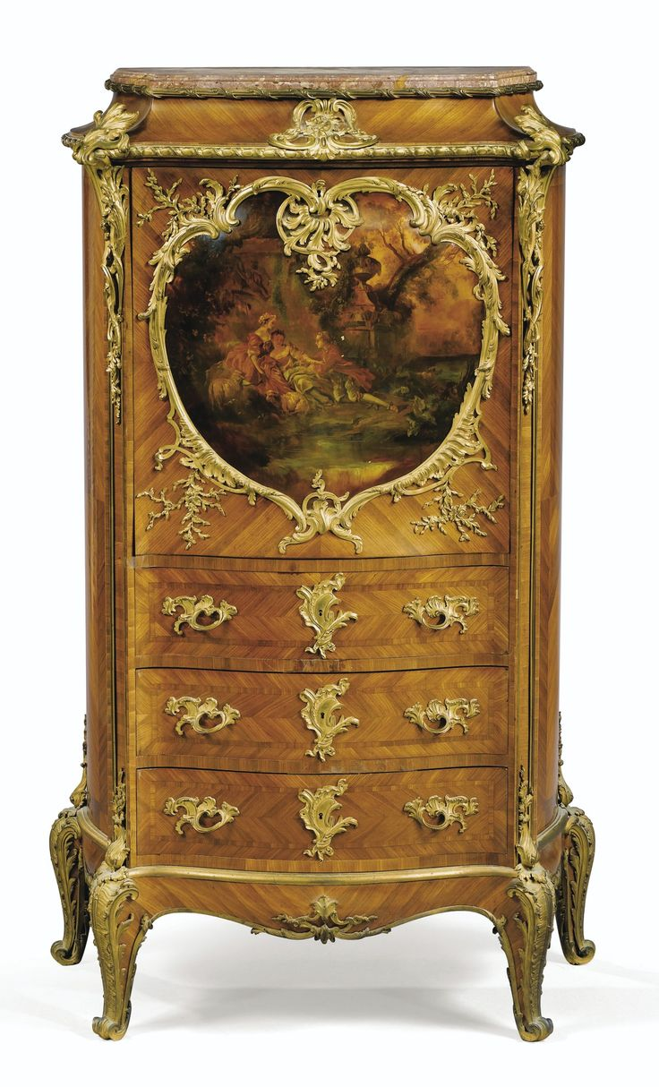 A LOUIS XV STYLE GILTBRONZE MOUNTED KINGWOOD AND VARNISH SECRÉTAIRE À ABATTANT, PARIS, CIRCA 1890, BY JOSEPH-EMMANUEL ZWIENER (FL. CIRCA 1875 - 1900)