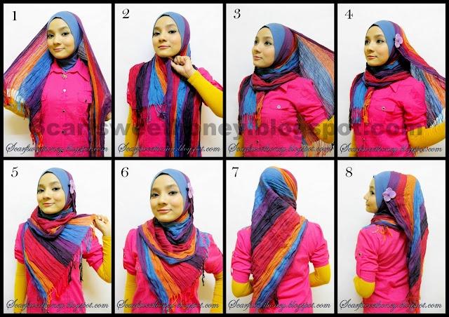 Rectangle scarf tutorial