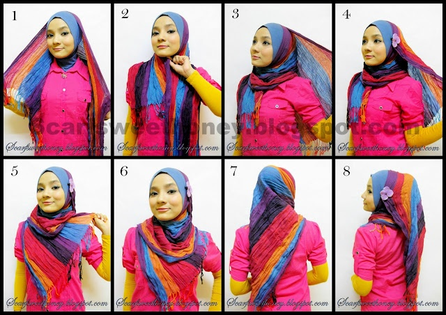 Rectangle scarf tutorial