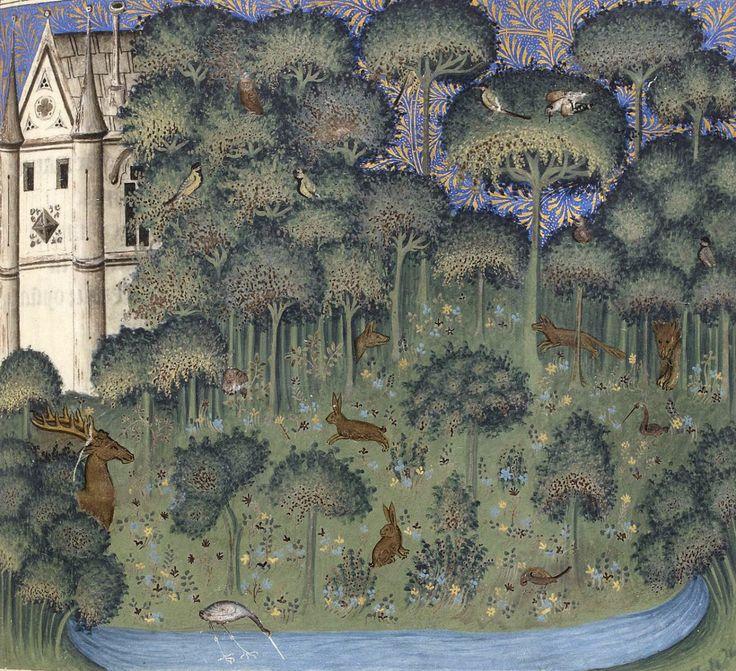 enchanted island Guillaume de Machaut, Dit du Lion, Paris 1350-1355 BnF, Français 1586, fol. 103r