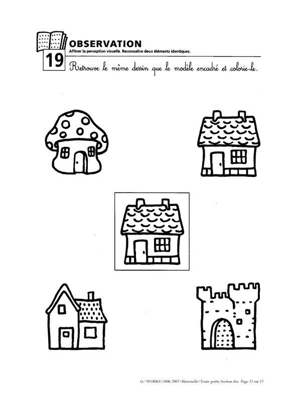 Favorit Les 25 meilleures idées de la catégorie Exercice maternelle petite  OH54