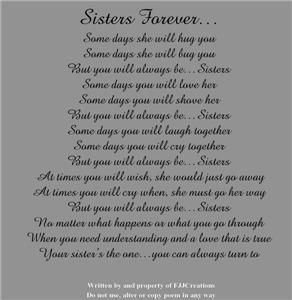new big sister poem | Big Middle Little Sister Personalized Flower Bracelet Jewelry Gift ...