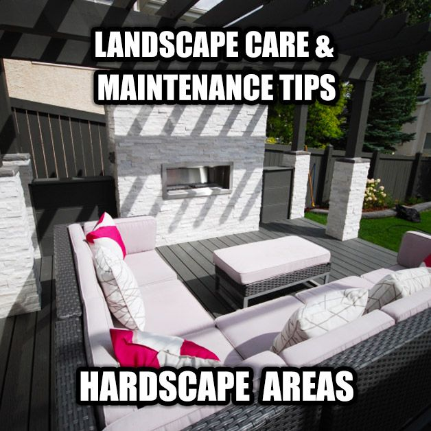 When it comes to hardscape landscaping care & maintenance, there's a few things you should know. Read our detailed and practical guide! #landscaping #hardscape #patio #fence #landscape #deck #maintenance #yeg #edmonton #landscaper