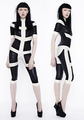 Skeleton Catsuit Crop – Pam Hogg Shop