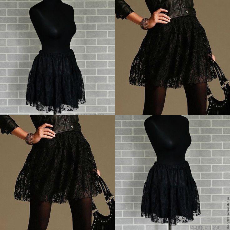 Купить Юбка кружевная женская - черный, шлейф, свадебная юбка, юбка длинная, платье пышное