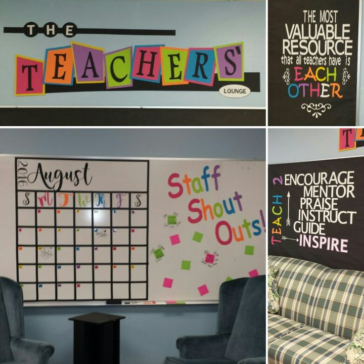 Starting up our teacher's lounge with ideas from pinterest and a whole lot of cricut cutting! :)