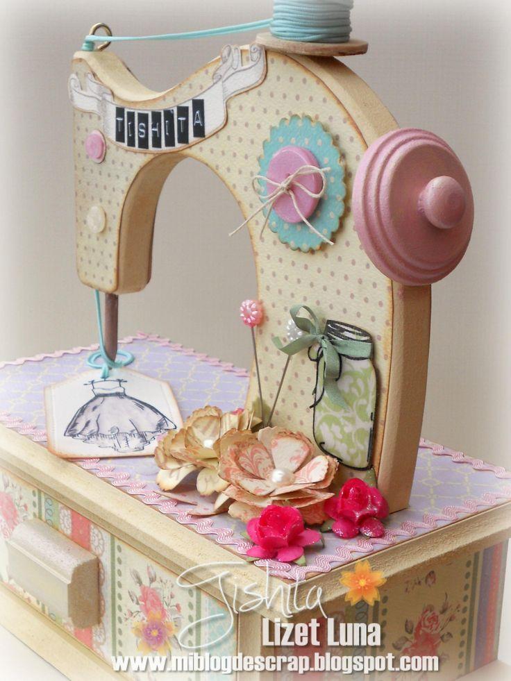 Máquina de coser alterada, encantada, y shabby chic!   Hola amigas !!Traje a mi blog este proyecto que he publicado en Crea lo inimaginable...