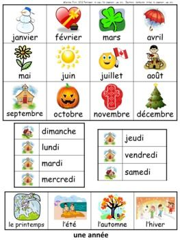 French Mini Office Portable Themed Word Walls Great for personal dictionaries