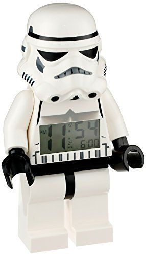 Rely on the force to wake you up each morning with this LEGO Star Wars Stormtrooper alarm clock.