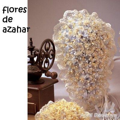 Ramo de Gota y Alfileres con Flores Azahar