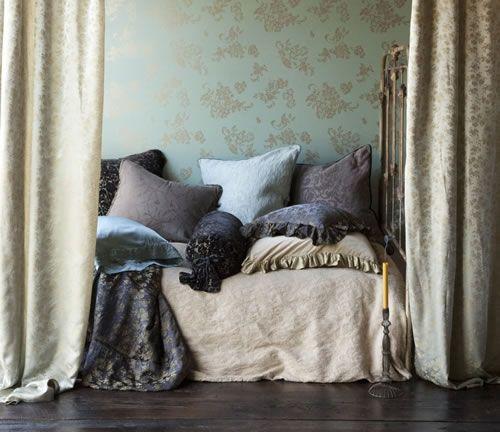 color schemes green aqua purple beige   Pine Cone Hill | SHABBY CHIC® Bed Linens | Pine Cone Hill Quilts | Bella Notte Linens
