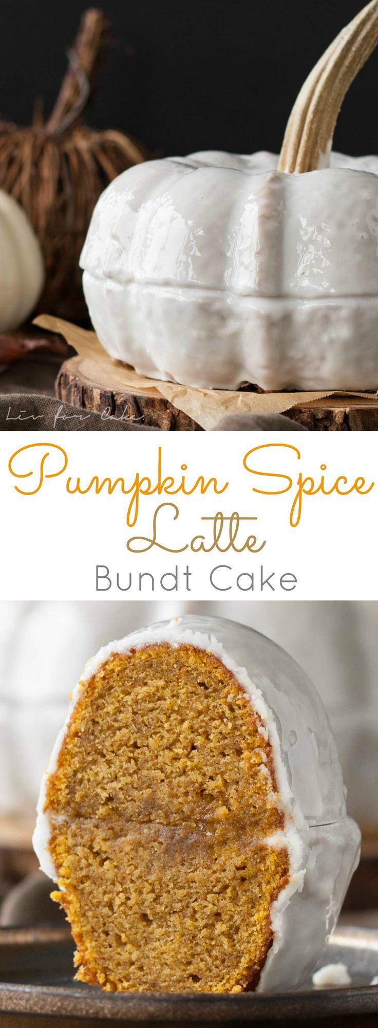 Pumpkin Spice Latte Bundt Cake. Your favourite Fall beverage in a cake! Pumpkin…