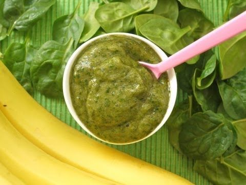 How to Make Baby Food: Banana Spinach Puree For Babies