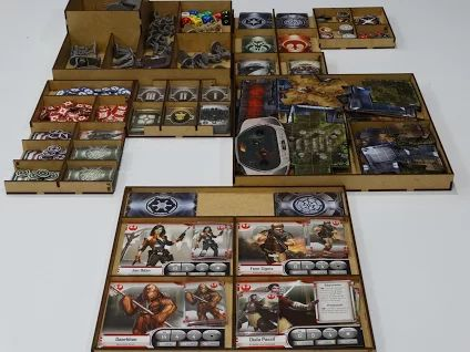 Boardgame / Juegos de Mesa Laser cut storage solution for the IMPERIAL ASSAULT info: withoutmess.wom@gmail.com