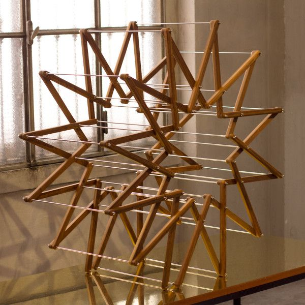 Aaron Dunkerton's Clothes Horse made from Kebony Radiata wood