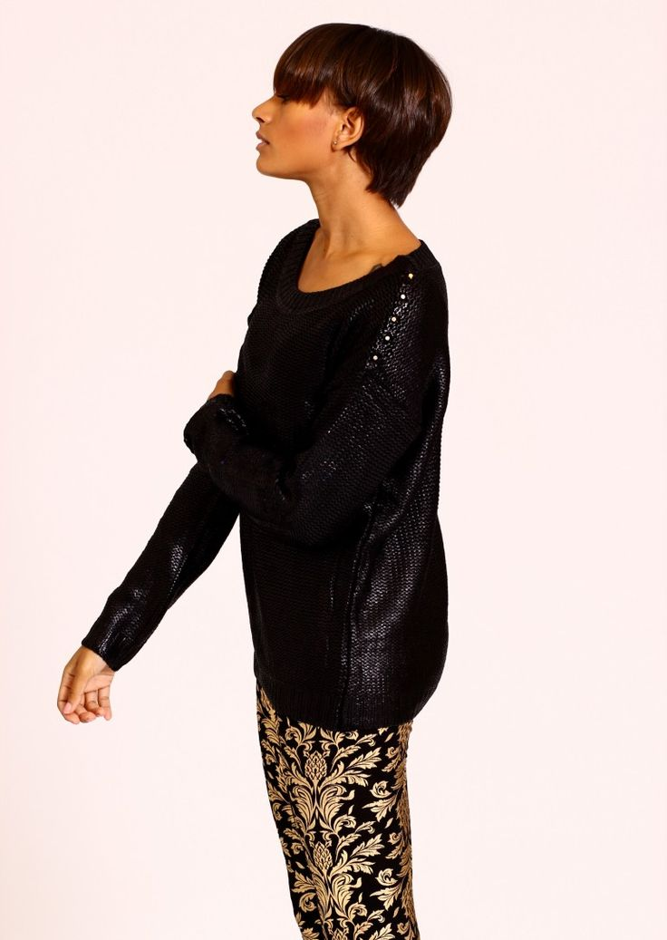 A BLACK JUMPER IS A WARDROBE ESSENTIAL THIS WINTER. Half price at only £18 - great bargain