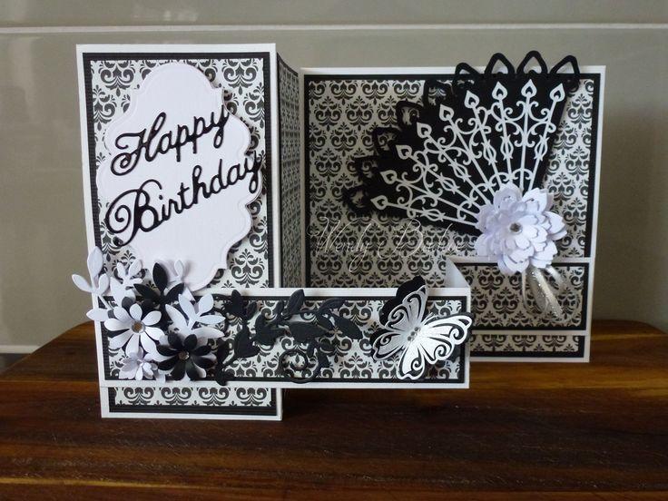 Black & White Double Z Fold Card
