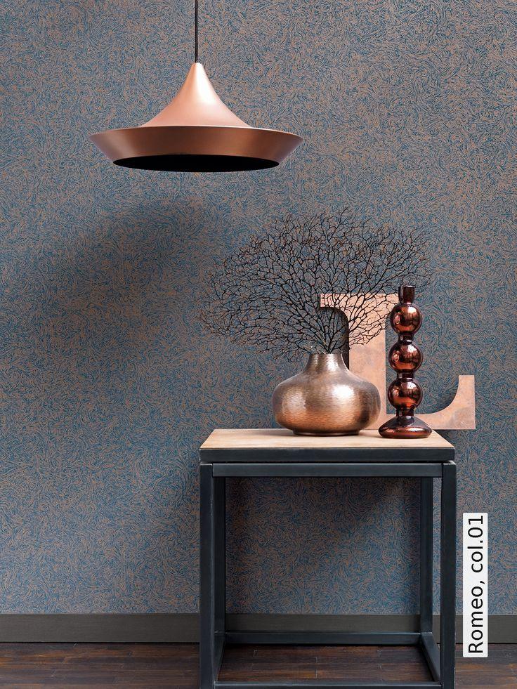 Tapete: Romeo, col.01 - TapetenAgentur #Kupfer #Copper #wallpaper