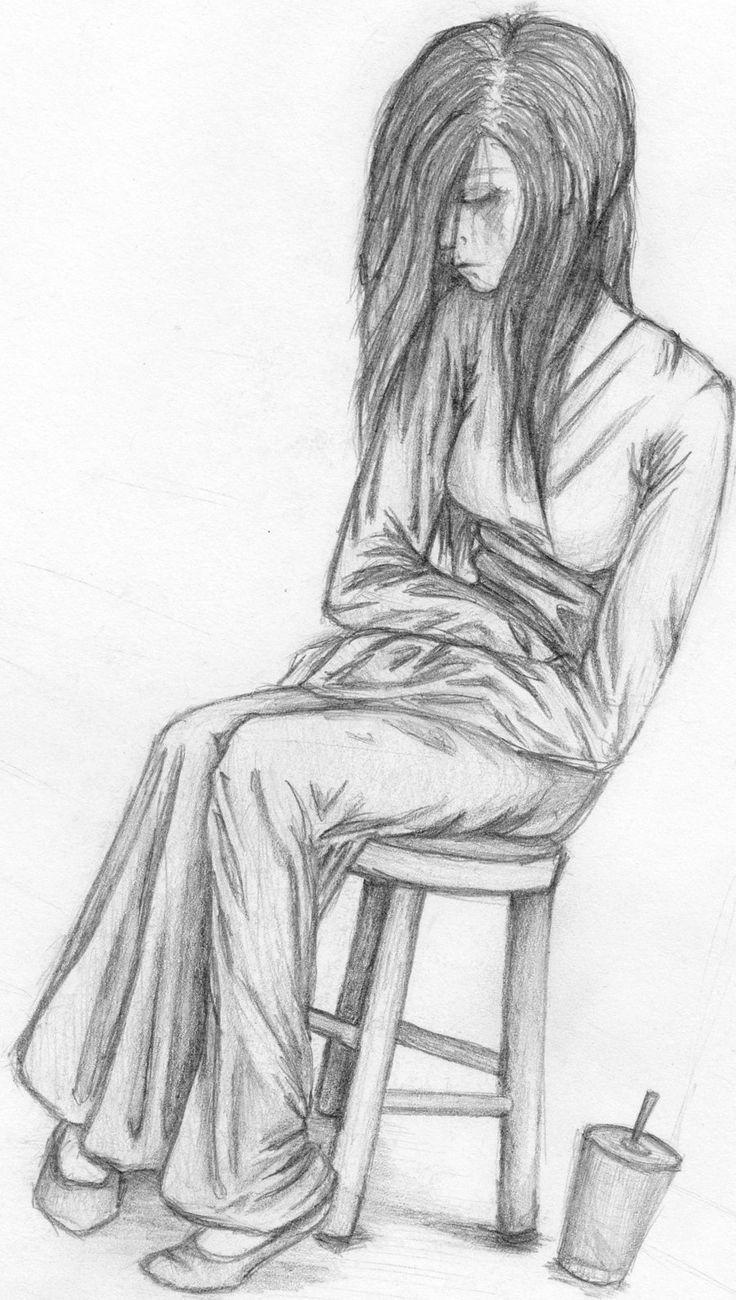Sad lonely girl painting sketch https cstu io e0f39e art beautiful