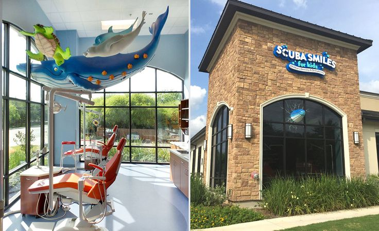 Whale and Underwater Themed Open Bay in a Pediatric Dental office for Kids | Imagination Dental Solutions