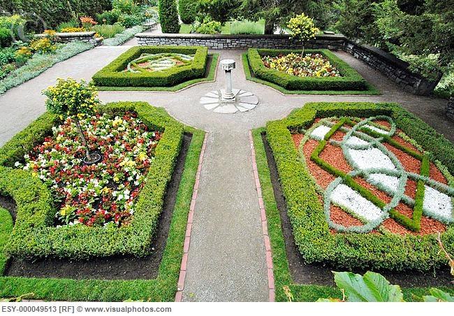 Shakespearean Gardens. Stratford. Ontario, Canada