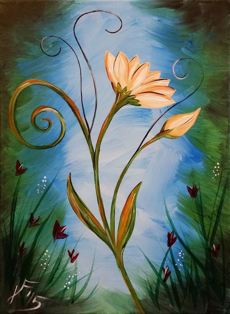 1000 ideas about flower painting canvas on pinterest for Canvas painting tutorial for beginners