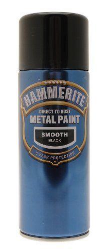 hammerite spray paint black