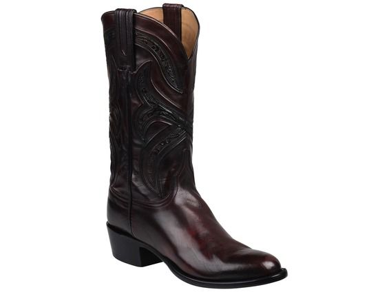 Lucchese Men's Cowboy Boots   Knox   Royal Calf in Black Cherry #LuccheseBoots www.lucchese.com
