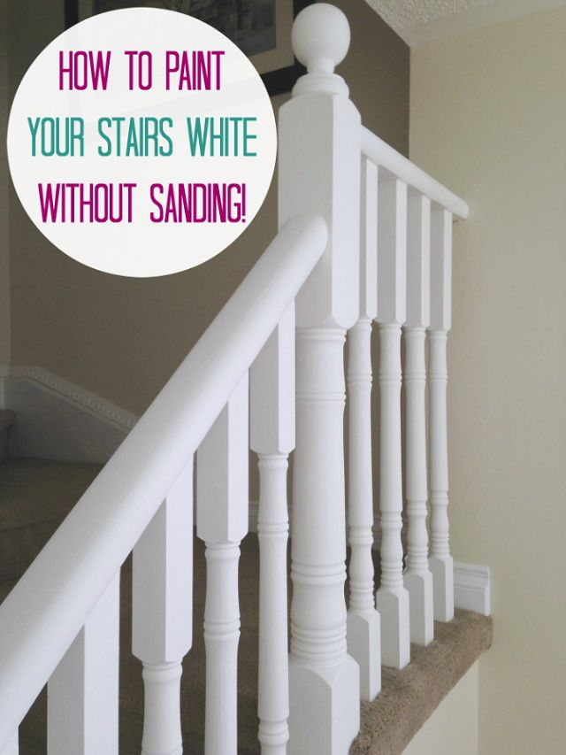June 2015 Before And After Painted Stair Railings
