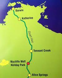 Wycliffe Well holiday park. Capitale australienne des OVNIS. Territoires du Nor, Australie. www.lagrandederoute.com