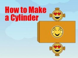 Cylinder - How to Make a Cylinder - a Printable 3d Net