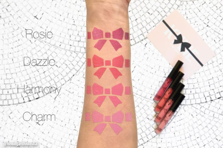 Review and Swatch Kylie Cosmetics Velvet Liquid Lipsticks Review Kylie Cosmetics Velvet Lip Kits Review and Swatch