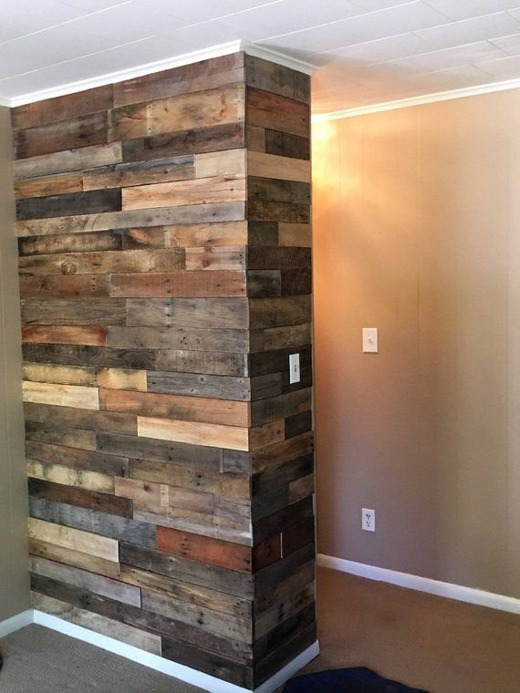 Reclaimed Wood Boards 25 Square Feet Dark Mix Reclaimed Wood Etsy Wood Accent Wall Ship Lap Walls Wood Wall Decor