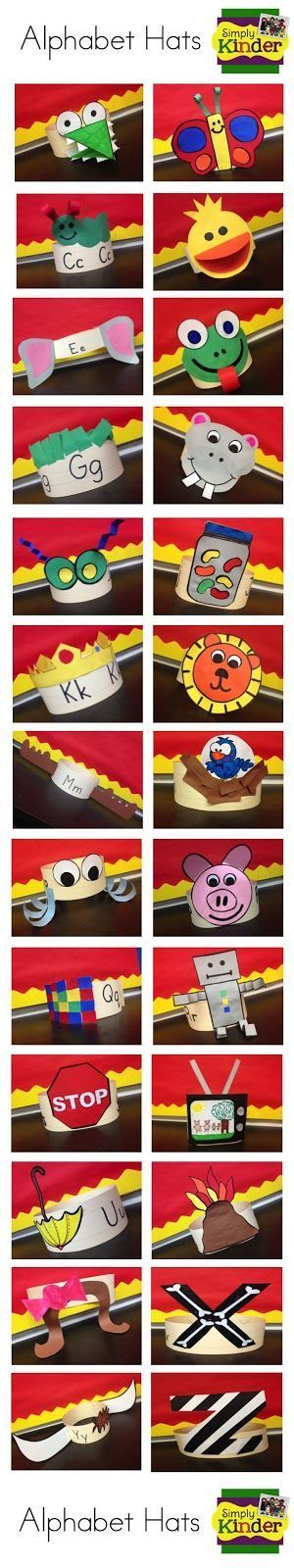 Alphabet Hat's from Simply Kinder