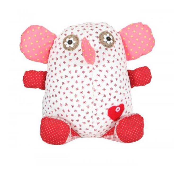 Elephant Door Stop White/Red - Metro Kids for sale by Little Shop of Treasures. Other Metro Kids available now at LSOT.