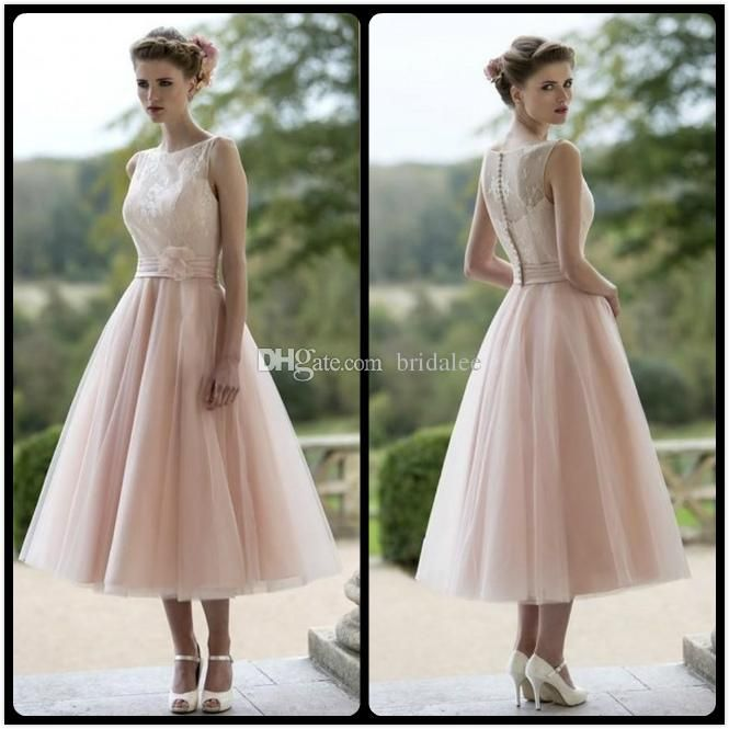 Illusion Neckline Lace Vintage Baby Pink Bridesmaid Special Occasion Party Dresses Bridesmade Dress For Wedding Evening Dresses Pewter Bridesmaid Dresses Pink Bridesmaids Dresses From Bridalee, $78.59| Dhgate.Com