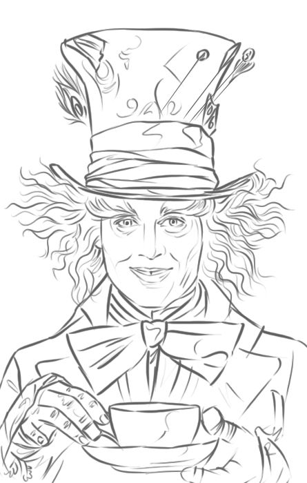 mad hatter coloring pages - photo#12