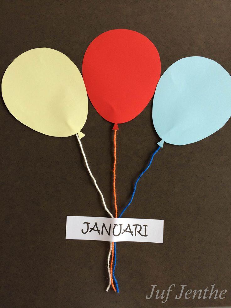 Leuk als verjaardagskalender. De leerlingen kleven een foto van zichzelf op de ballon en kunnen deze versieren door een strik, verjaardagskroon,... toe te voegen. Datum erop en klaar is kees!