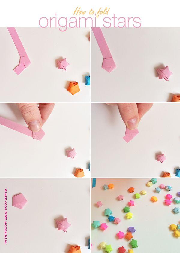 Origami sterren vouwen, zo vouw je stap voor stap lucky stars