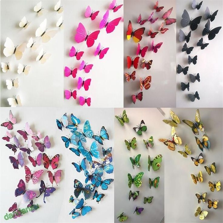 Best Wall Stickers Images On Pinterest Wall Clings English - Butterfly wall decals 3daliexpresscombuy d butterfly wall decor wall sticker