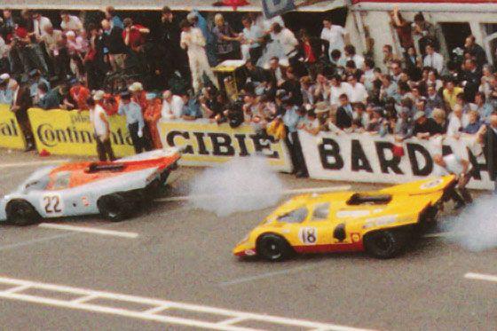 24 heures du mans 1970 porsche 917k 20 pilotes david piper gijs van lennep abandon - Garage volkswagen le mans ...