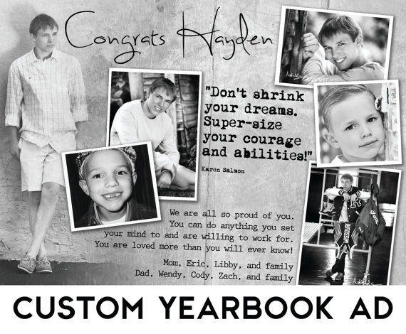 Custom Senior Yearbook Ad w/ Design Consultation by verymaryk