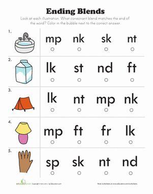 Phonics Blends Worksheets For First Grade on for 2ud, let 1st, for 4rd,